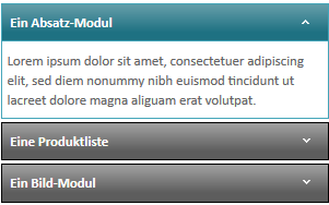 Modul Accordion light