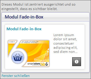Modul Fade-in-Box Version 6